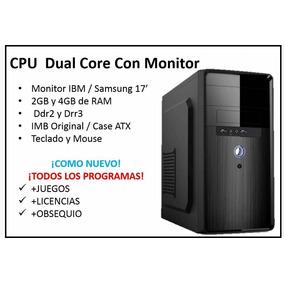 Computadora Completa Para Oficina Hogar Trabajo Con Monitor!