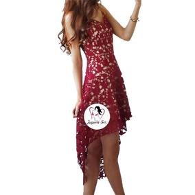 Vestido Cola De Pato Encaje Trans Sexy Moda Coreana Mod.130