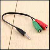 Cable Adaptador Para Microfonos Audifonos En Celulares Y Otr