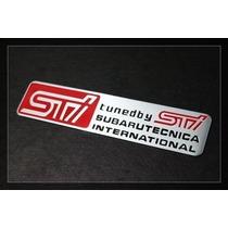 Emblema Esportivo Subaru Sti Aluminio Decalque Tuned By Sti