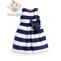 Bebê Vestido Menina Infantil Festa Enxoval Laço Casual