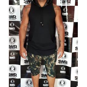 Camisa Oversized Longline Capuz Bolso Masculina Camiseta ab3dd664672