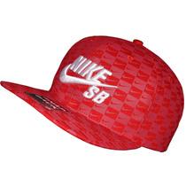 Bone Nike Sb Bordado Vermelho Estampado Simbolos