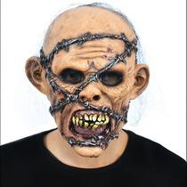Mascara Halloween Latex Zombie Con Púas Cotillon
