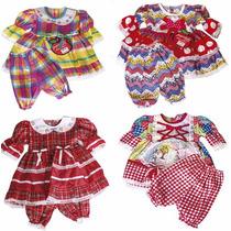 Vestido Menina Infantil Festa Junina Xadrez 1 A 4 Anos