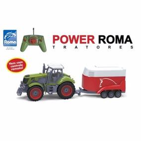 Carro De Controle Remoto Trator Power Roma Haras 1765