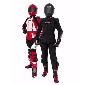 Macacão Motociclista Feminino Texx Diana 2 Pecas De Couro