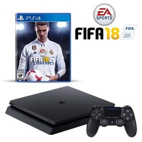 Playstastion 4 Slim +fifa 2018 + Un Joystick Adicional