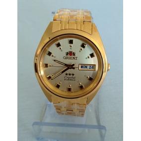 Relógio Dourado Masculino Orient Automático Original