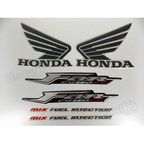 Kit Adesivos Faixas Honda Fan Cg 150 Esi 2011 Cinza