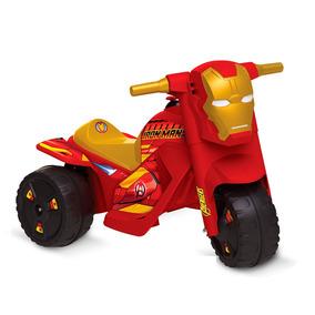 Moto Elétrica - 6v - Disney - Marvel - Iron Man - Bandeiran