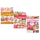 Revista Cartonagem Artesanato Passo A Passo Kit 3 Revistas
