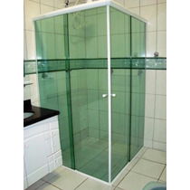 À Retirar -box Vidro Verde/fumê/bronze - Canto Até 0,90x0,90