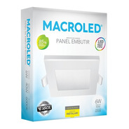 Macroled Panel Embutir Cuadrado Led 6w  Frío Pec06