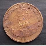 Moneda Colombia 2 Pesos 1981 A. U. La Mas Rara De La Serie