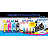Tinta Original Epson Kit 4 Colores L210, L220, L310, L380...