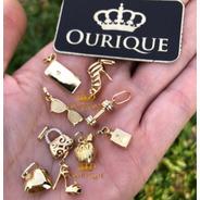 Pingente Personalizados Para Pulseira Ouro 18k 750 Berloques