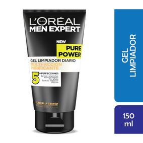 Gel Limpieza Facial Pure Power 5 Men Expert Loreal