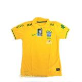 Camisa Polo Seleção Brasileira Feminina Brasil Copa 2018