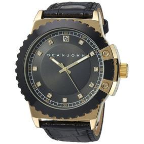 Sean John - Reloj 10030887 Diamond Quartz Metal Casual Para