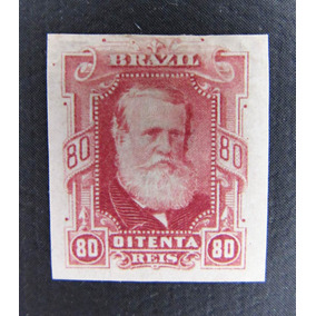 Selo Brasil Rhm40 D. Pedro I I 80rs 1878 Percé Barba Branca