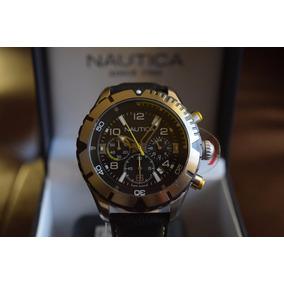 Deportivo Nautica Nad20504g Piel Tiempo Exacto Relojes