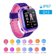 Reloj Inteligente Niños Q12 Chip Gps Android Ios // Rosado