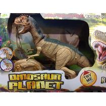 Dinosaurio Radio Control Remoto Camina Sonido A Pila Grande