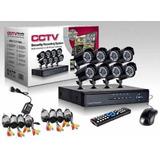 Cctv Kit Dvr 8 Canales + 8 Cámaras De Seguridad 700 Tvl