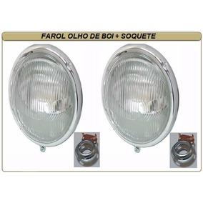 Farol Vw Fusca Olho De Boi 63/72 Kombi Antiga C/soquete Par