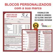 4kit Personalizado Ficha Anamnese Micropig+4bloco Cuidados