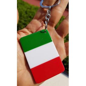 Bandera Italia Llavero Plastico Rigido Pais Souvenir 1428