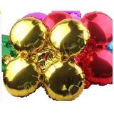 Globos Metalizados Unicolor En Forma De Flor