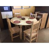 Mesa Para Comedor Redonda Para 4-6 Personas 120cm Diametro