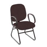 Cadeira Diretor Fixa 605 Com Pés Trapézio E Braços Corsa Pp