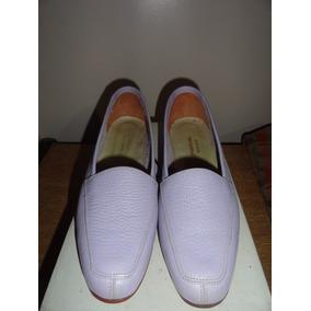 Zapatos Chatitas Mocasín Cuero Mujer Retro Vintage