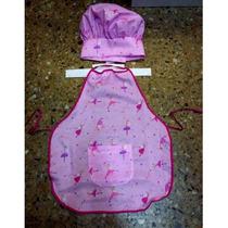 Disfraz Delantal De Cocinero Cocinera Nenes Con Sombrero