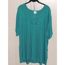 Blusa Feminina Plus Size Eg3 Viscolycra Moda Grande