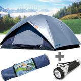 Barraca Acampamento Camping Impermeável 4 Pessoas Luna Mor