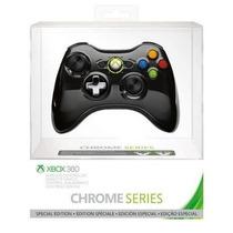Controle Xbox 360 Chrome Series Wireless Black Lacrado