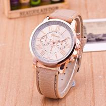 Reloj De Dama A La Moda De Cuero,
