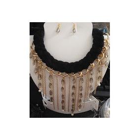 Collares De Moda En Cristal Bisuteria Pulseras Aretes Anillo