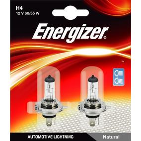 Kit 2 Lamparas Energizer H4 Baja Alta 12v 60w Pack Halogenas