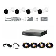 Kit Hdcvi 1080p Dvr 4ch 4mp Lite 4 Cámaras 1080p