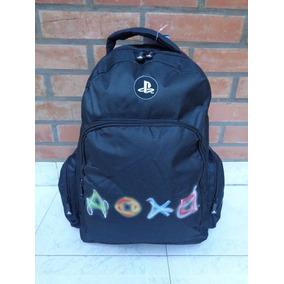 Mochila Playstation Porta Notebook Logos Colores