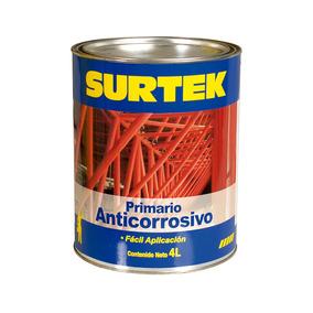 Esmalte Primario Anticorrosivo Rojo Óxido 4lt Sp50356 Surtek