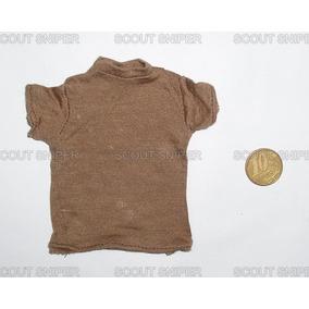 Camiseta Bege #1 Miniatura P/ Boneco Escala 1/6
