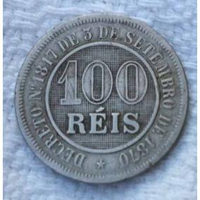 Linda Moeda De 100 Reis Do Ano De 1888, Mbc (niquel)