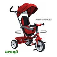 Triciclo Infantil Bebe Asiento Gira 360 Reforzado Manija