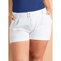 Short Plus Size Branco ( Roupa Tamanhos Grandes ) Bermuda